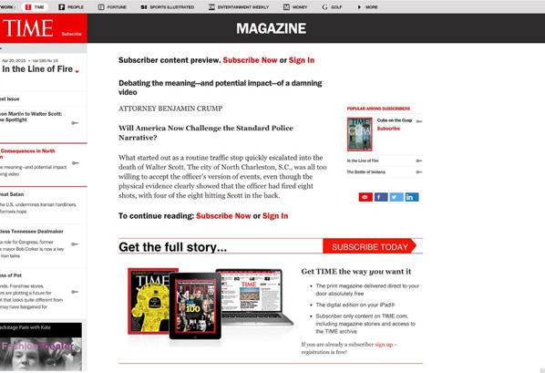 Пейволл Time Magazine