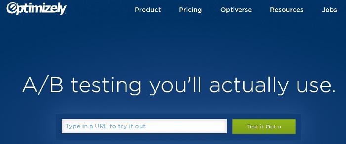 вот как Optimizely показывает выгоду в заголовке (А/Б тестирование, которое вы на самом деле будете использовать)