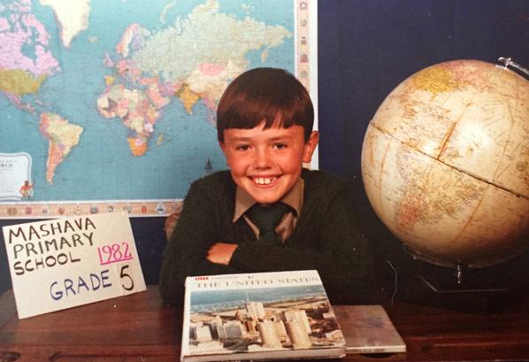 Фото Пола ле Ру в честь выпуска из школы в1982