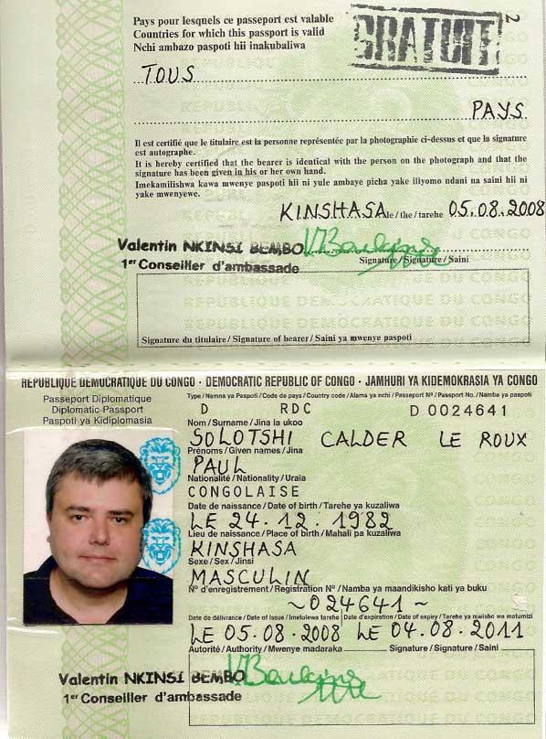 Паспорт Пола ле Ру